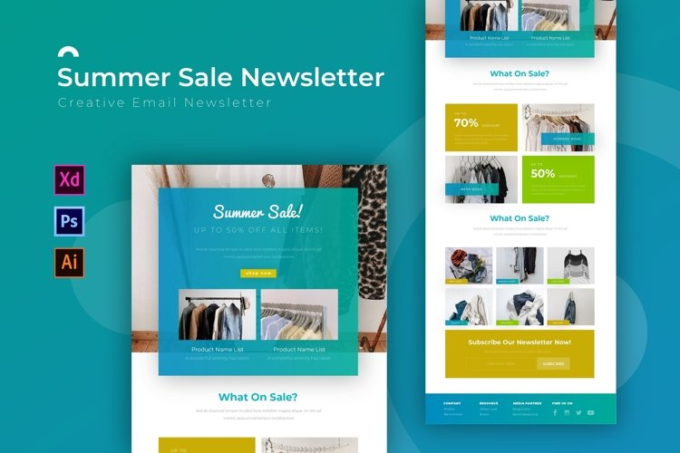 Summer Sale | Email Newsletter Template example image 1