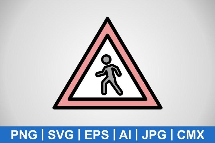 Vector Pedestrian crossing Icon example image 1