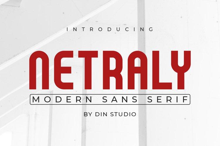 Netraly-Modern Sans Serif Font example image 1