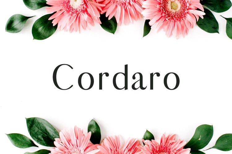 Cordaro Sans Serif Typeface example image 1