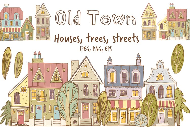 Old town buildings and streets