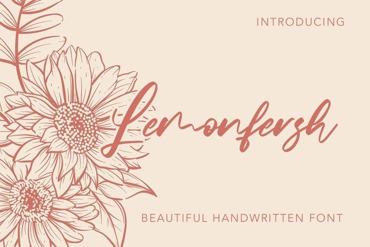 Web Font Lemonfresh - Handwritten Font example image 1