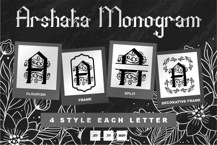 Arshaka Monogram Font - 4 Style Monogram example image 1