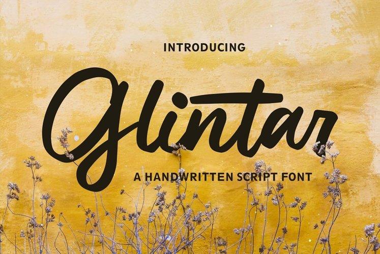Glintar - Script Font example image 1