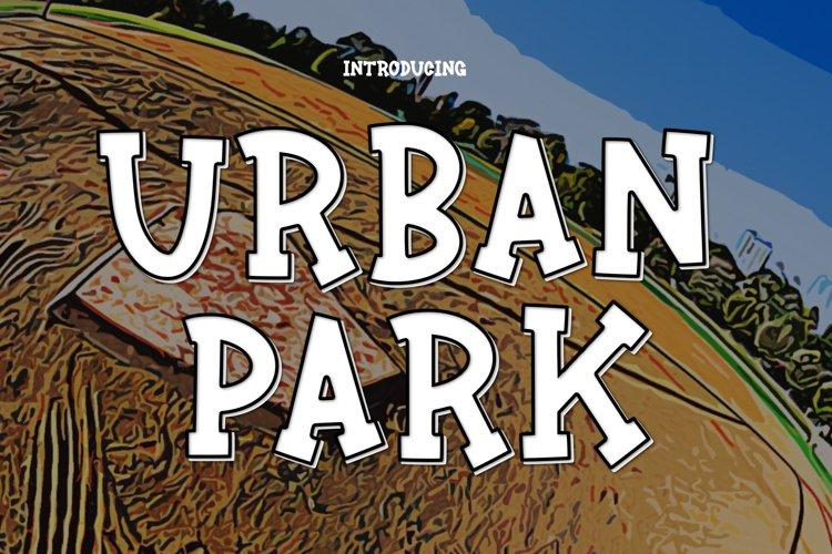 Urban Park a Fun Sports Font example image 1