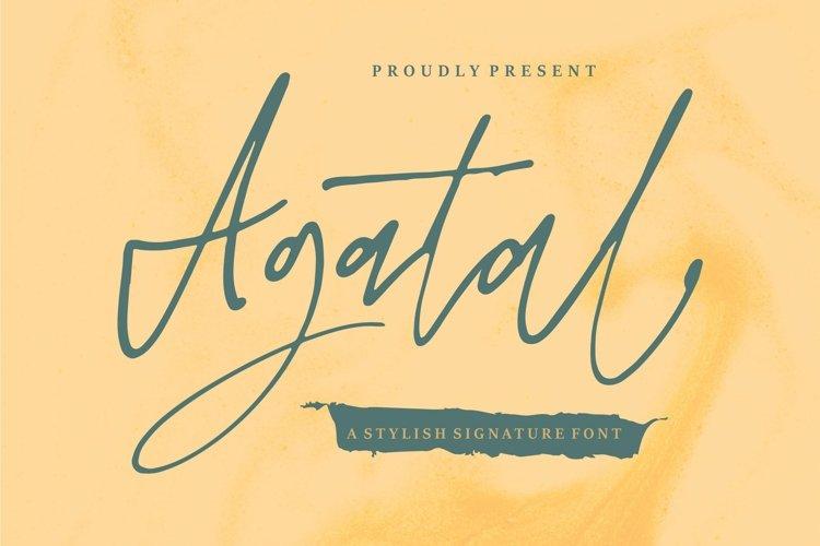 Agatal - A Stylish Signature Font example image 1