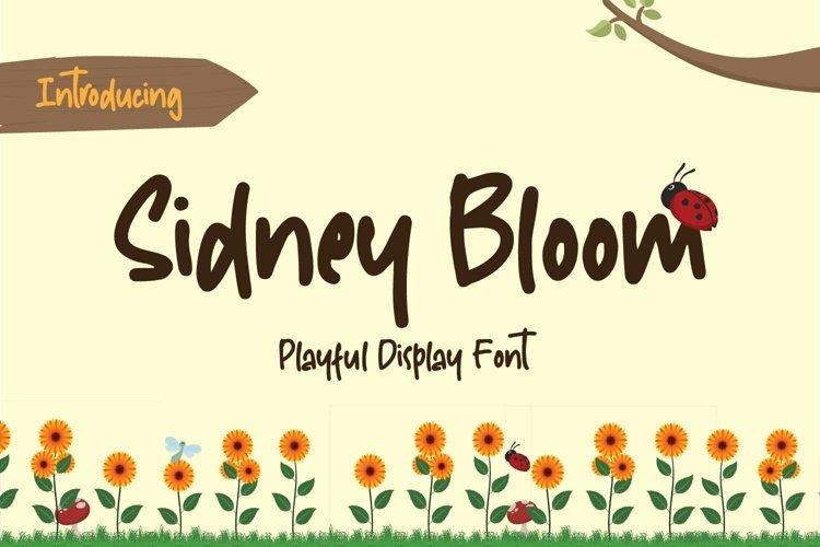 Sidney Bloom