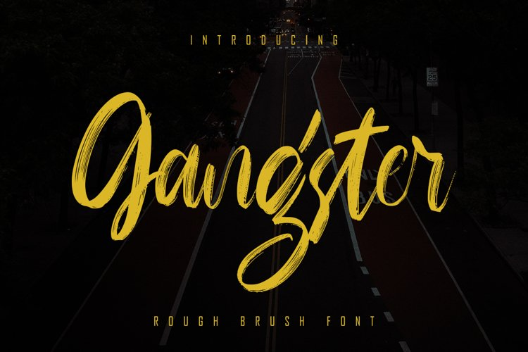 Gangster - Rough Brush Font example image 1