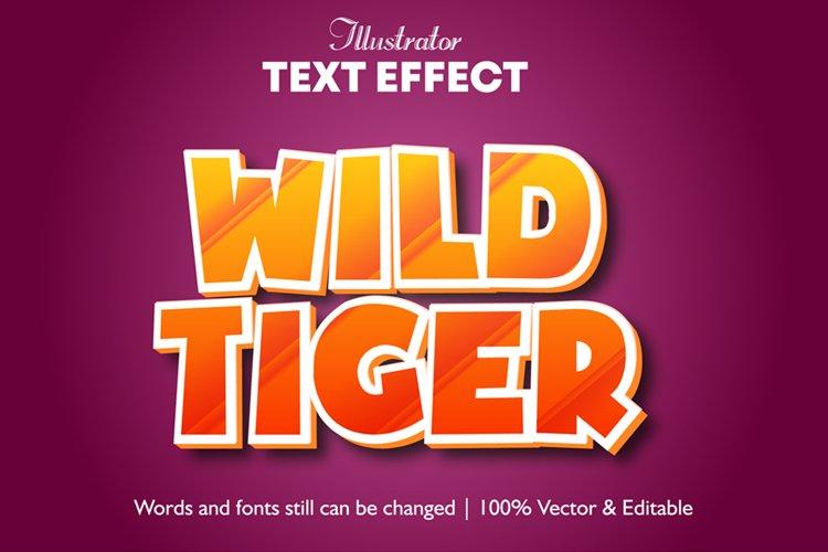 Wild Tiger Editable Illustrator 3D Text Effect
