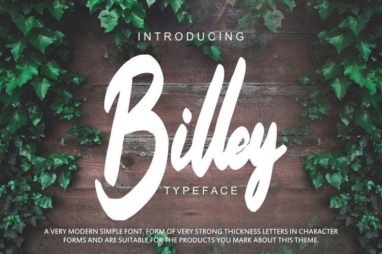 Billey - Handwritten Script example image 1