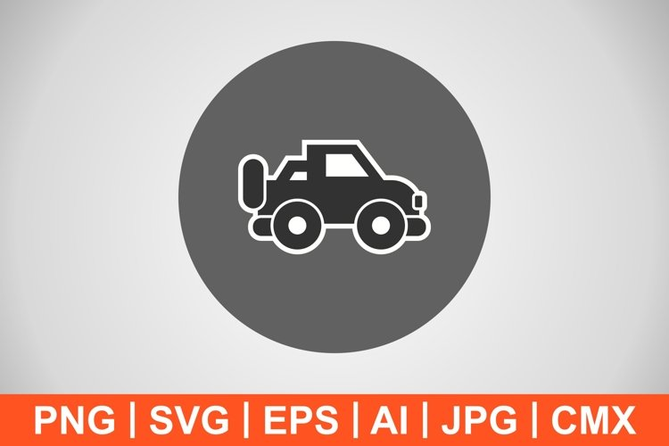 Vector Jeep Icon example image 1