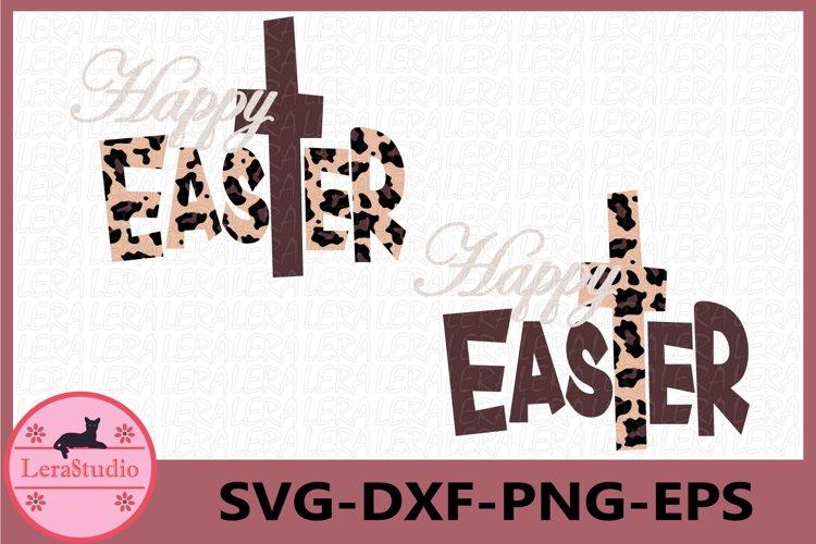 Happy Easter SVG, Easter Leopard SVG, Happy EasTer svg example image 1