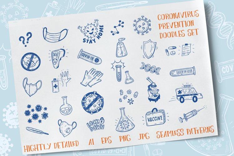 Coronavirus graphics set
