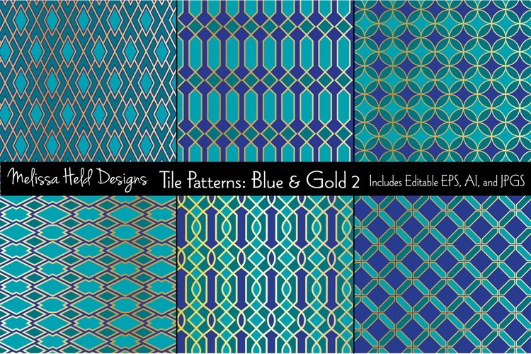 Blue & Gold Moroccan Patterns