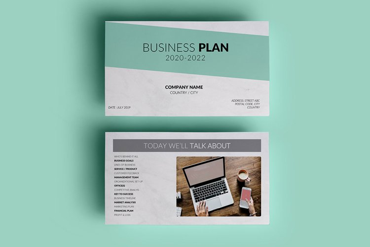 PPT Template | Business Plan - Green and Marble example image 1