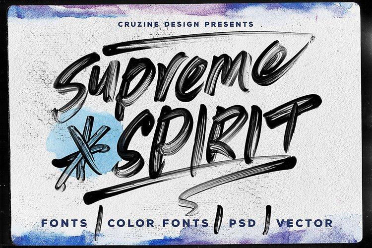 Supreme Spirit Brush Font example image 1
