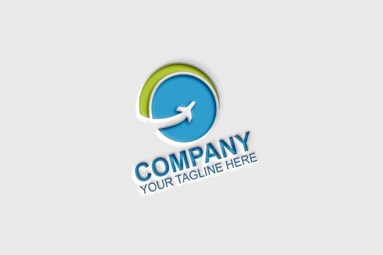 Airplane Travel Agency Logo example image 1
