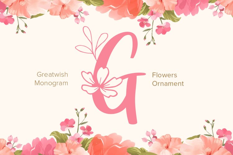 Great Wishes Monogram Font example image 1