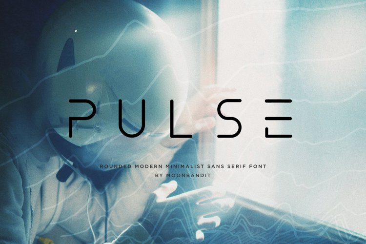 PULSE - modern minimalist scifi rounded font example image 1