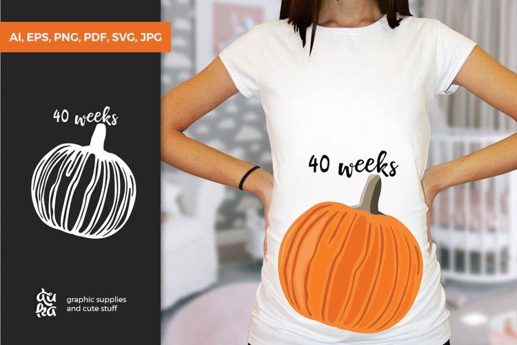 Pregnancy Week by Week SVG Cut Files - Pumpkin