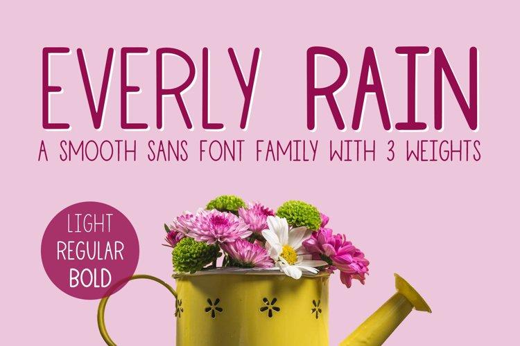 Everly Rain, 3 Font Family