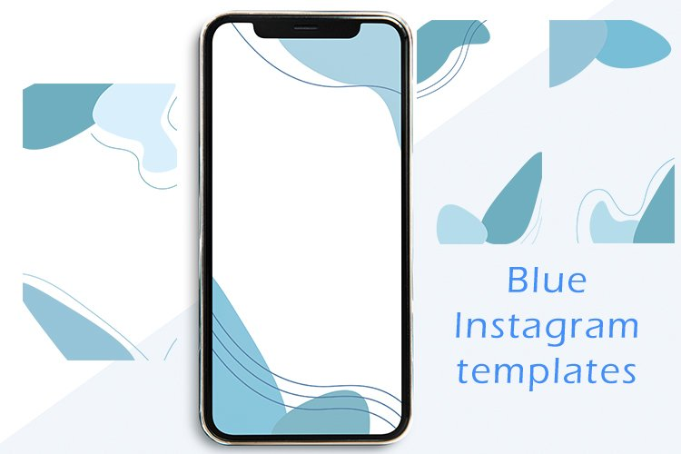 Blue Instagram templates example image 1