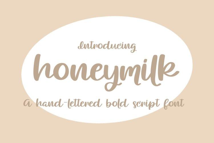 Web Font Honeymilk example image 1