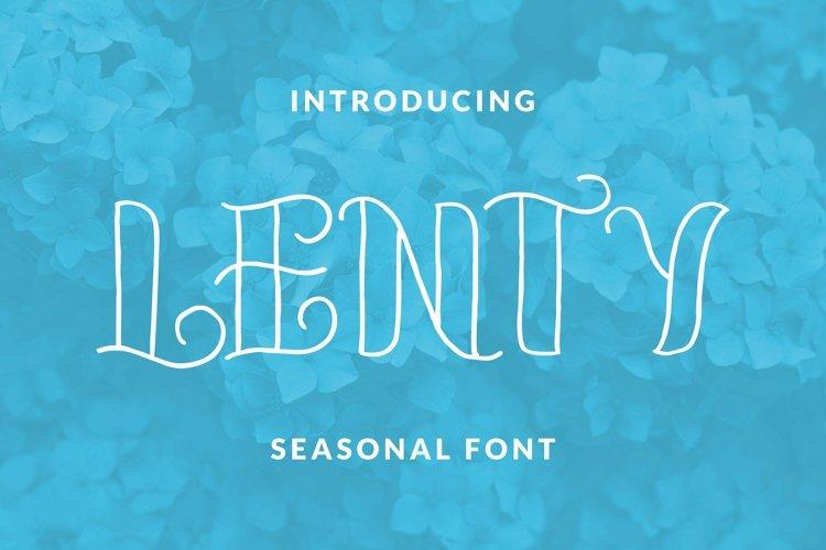 Web Font LENTY Font example image 1