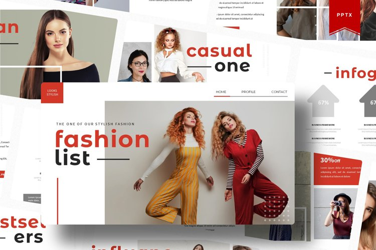 Fashionlist | Powerpoint Template example image 1