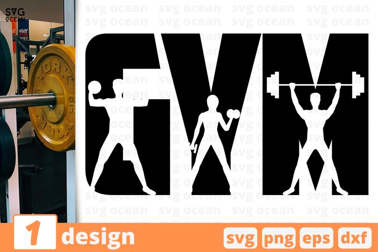 GYM SIGN SVG CUT FILE   Fitness cricut   Workout quote example image 1