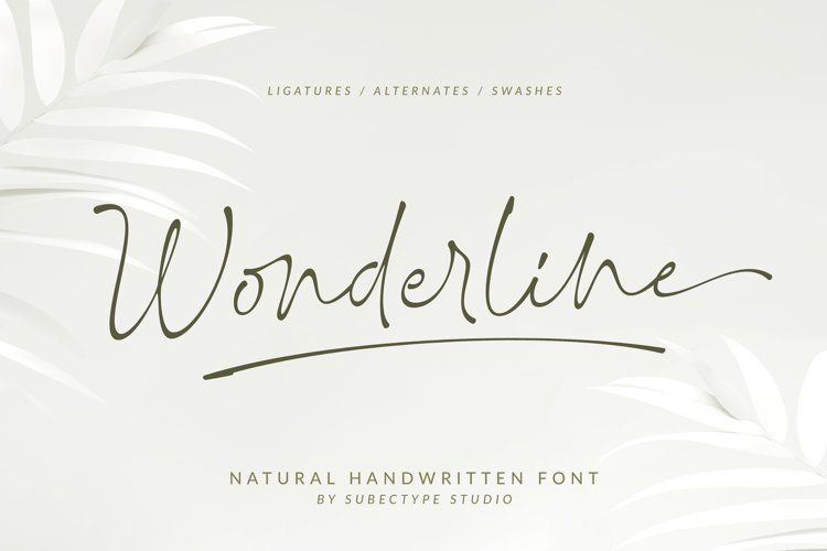 Wonderline / Handwritten Font example image 1