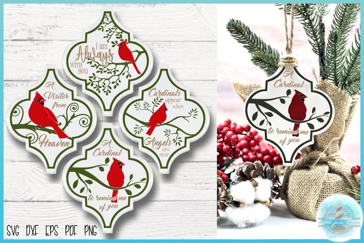 """Cardinal Quotes Arabesque Tile Ornament Bundle 4.38""""Hx3.63""""W example image 1"""