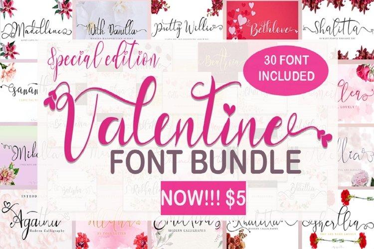 Valentine Font Bundle example image 1