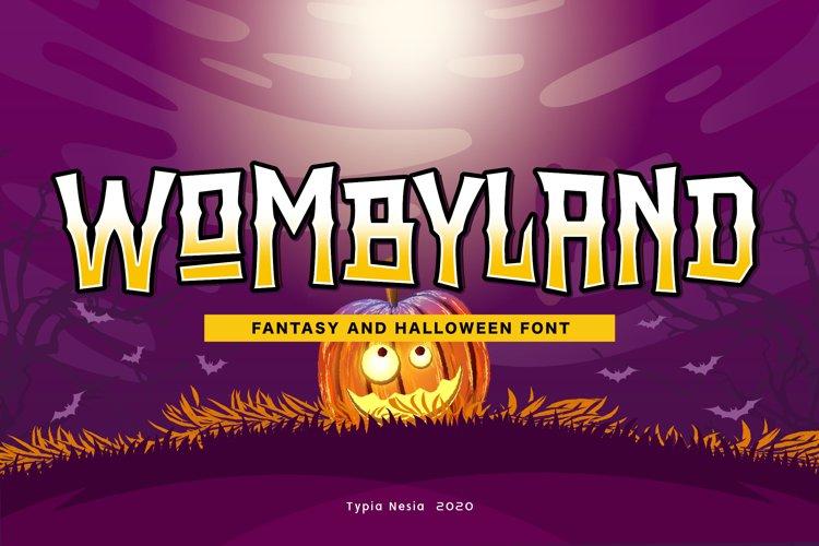 Wombyland - Fantasy Font example image 1