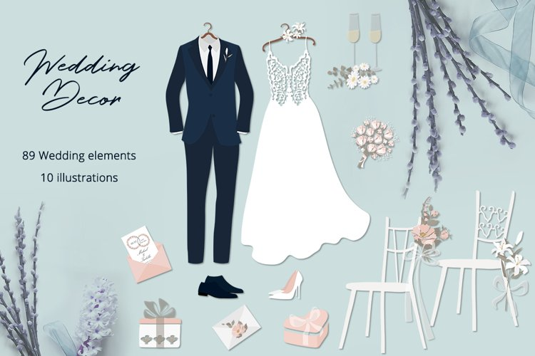 Wedding Decor Illustration Set