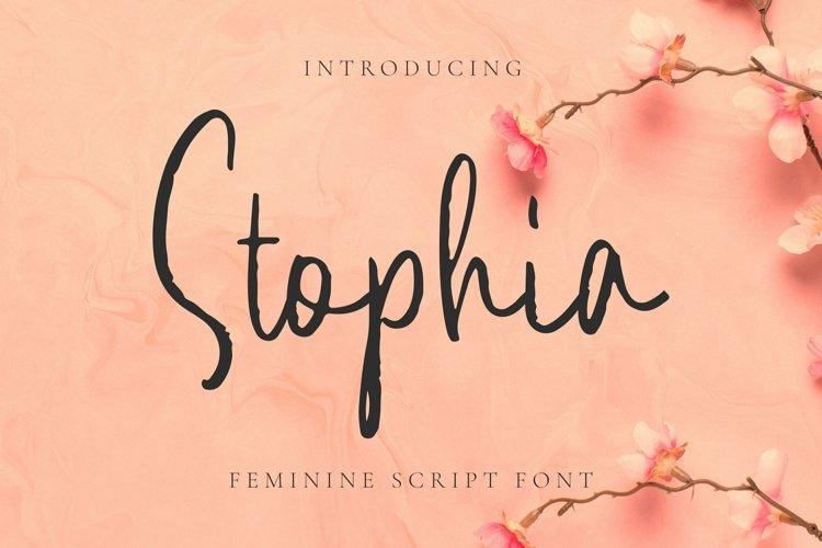 Web Font Stophia Font example image 1