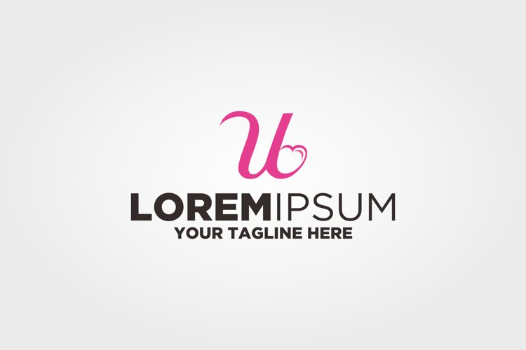 Letter U Love Logo example image 1
