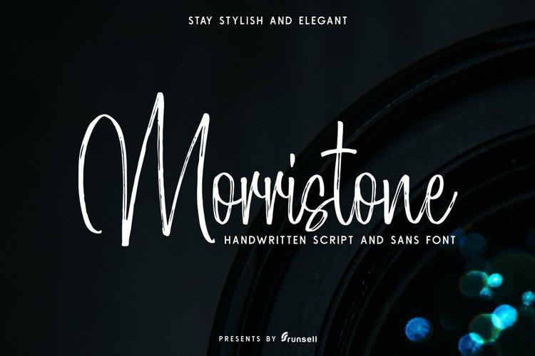 Morristone Script & Sans example image 1