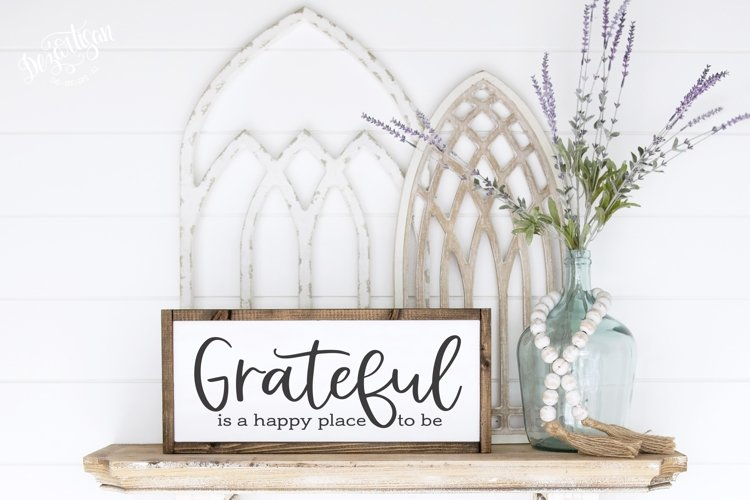 Grateful is a Happy Place to Be SVG|DXF Cut File
