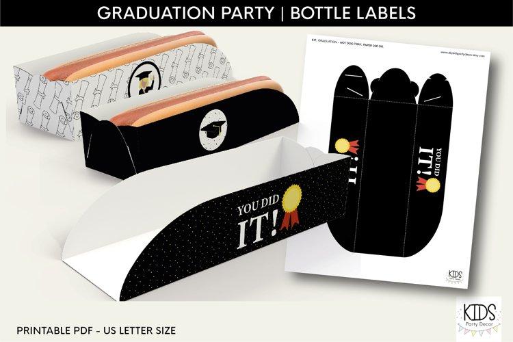 Class of 2021 printable decor|Graduation party Hot dog tray