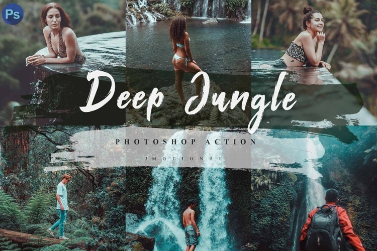 12 Deep Jungle Photoshop Actions, ACR and LUT Presets example image 1