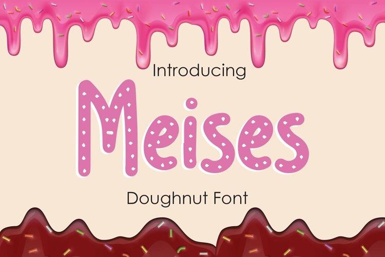 Web Font Meises - Doughnut Font example image 1
