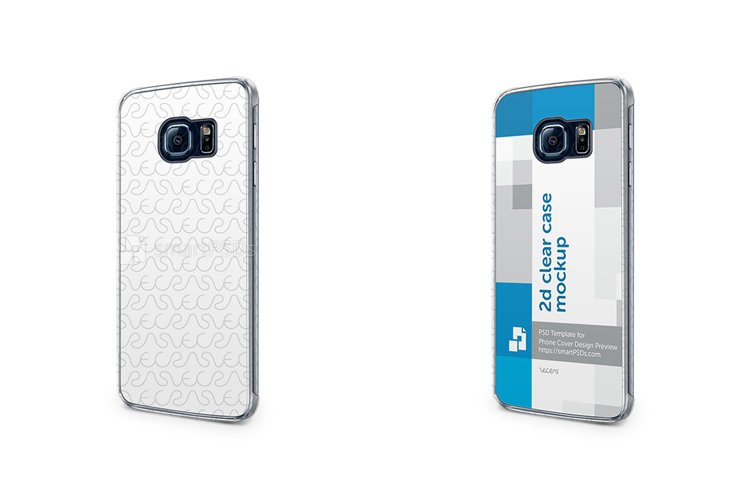 Samsung Galaxy S6 Edge 2d Clear Mobile Case Mockup 2015 example image 1