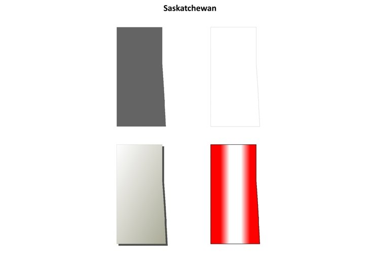 Saskatchewan blank outline map set example image 1