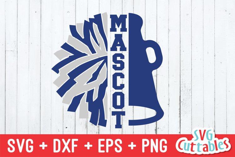 Cheer SVG | Pom Pom And Megaphone Split | Shirt Design