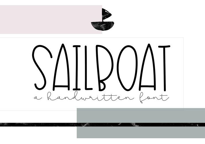 Sailboat - A Fun Handwritten Font - Free Font of The Week Font