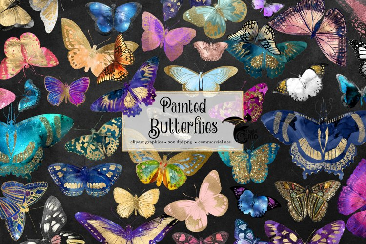 Painted Butterfly Clipart example 2