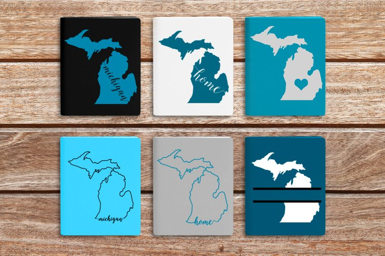 State of Michigan SVG File Cutting Template example image 1