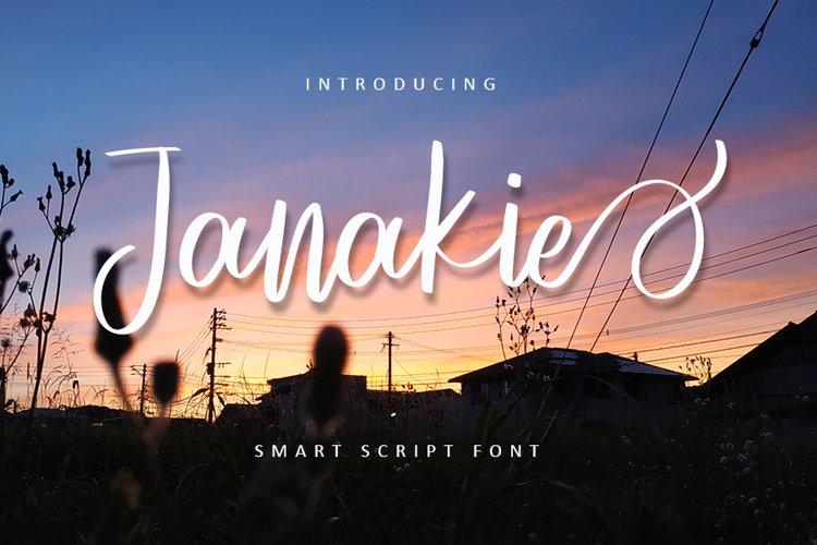 Janakie - Web Font example image 1