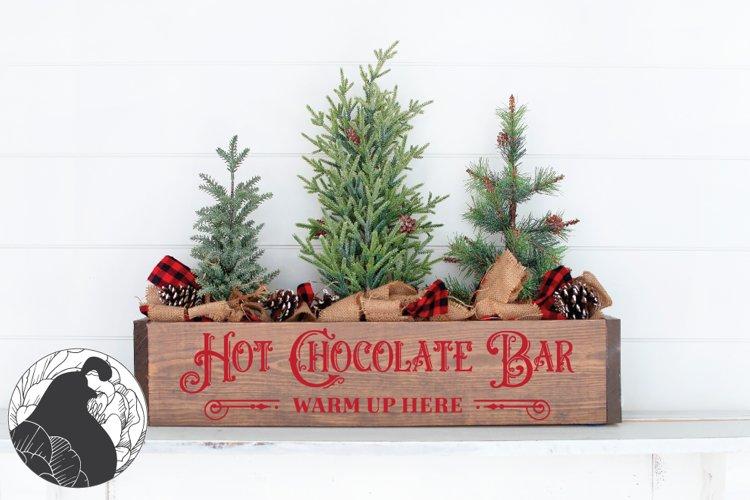 Hot Chocolate Bar SVG, Christmas svg example image 1
